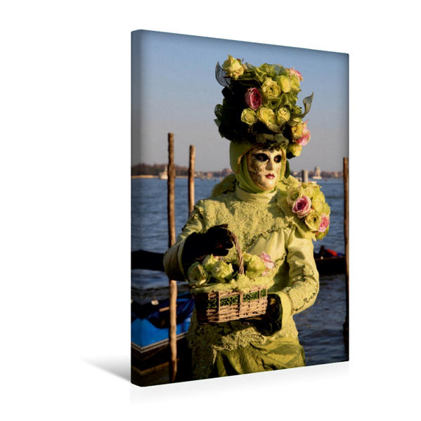 Premium Textil-Leinwand 30 cm x 45 cm hoch, Ein Motiv aus dem Kalender Karneval in Venedig - Phantasievolle Masken | Wandbild, Bild auf Keilrahmen, Fertigbild auf echter Leinwand, Leinwanddruck - Coverbild