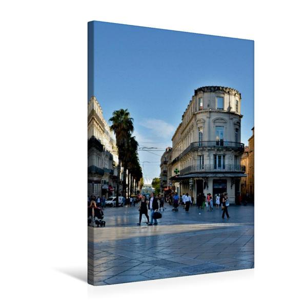 Premium Textil-Leinwand 50 cm x 75 cm hoch, An der Place de la Comedie | Wandbild, Bild auf Keilrahmen, Fertigbild auf echter Leinwand, Leinwanddruck - Coverbild