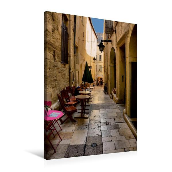 Premium Textil-Leinwand 60 cm x 90 cm hoch, Altstadtgasse | Wandbild, Bild auf Keilrahmen, Fertigbild auf echter Leinwand, Leinwanddruck - Coverbild