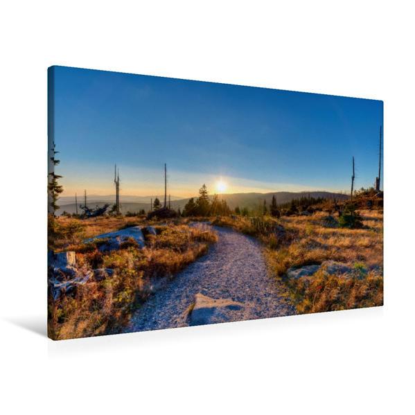 Premium Textil-Leinwand 90 cm x 60 cm quer, Morgens auf dem Dreisessel   Wandbild, Bild auf Keilrahmen, Fertigbild auf echter Leinwand, Leinwanddruck - Coverbild
