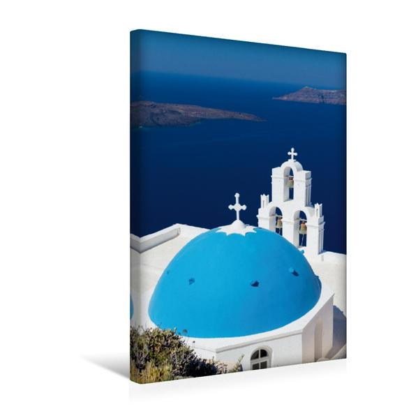Premium Textil-Leinwand 30 cm x 45 cm hoch, Santorini - Schönheit der Südlichen Ägäis | Wandbild, Bild auf Keilrahmen, Fertigbild auf echter Leinwand, Leinwanddruck - Coverbild