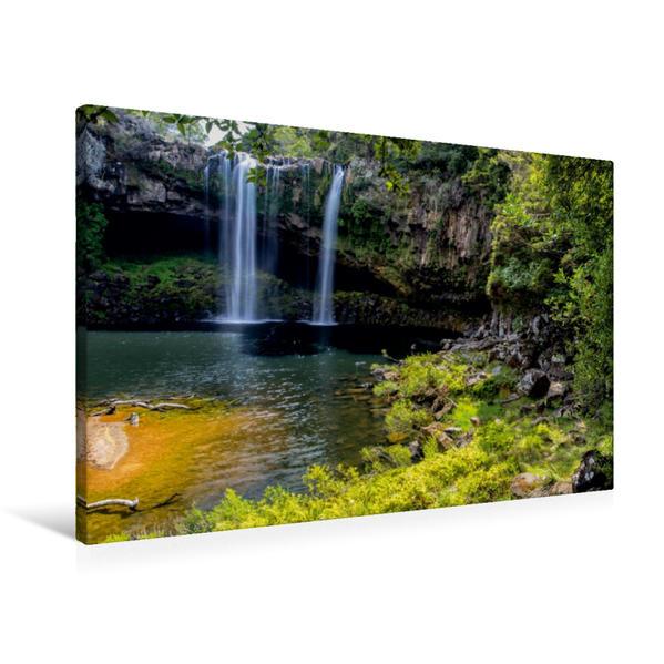 Premium Textil-Leinwand 90 cm x 60 cm quer, Rainbow Falls - Kerikeri | Wandbild, Bild auf Keilrahmen, Fertigbild auf echter Leinwand, Leinwanddruck - Coverbild