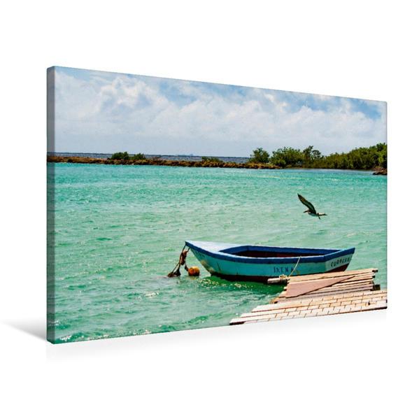 Premium Textil-Leinwand 75 cm x 50 cm quer, Ein Motiv aus dem Kalender Trauminsel Curaçao | Wandbild, Bild auf Keilrahmen, Fertigbild auf echter Leinwand, Leinwanddruck - Coverbild