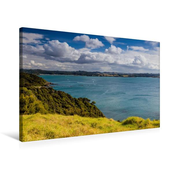 Premium Textil-Leinwand 75 cm x 50 cm quer, Tapeka Point - Bay of Islands   Wandbild, Bild auf Keilrahmen, Fertigbild auf echter Leinwand, Leinwanddruck - Coverbild