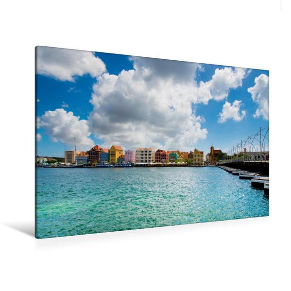 Premium Textil-Leinwand 120 cm x 80 cm quer, Ein Motiv aus dem Kalender Trauminsel Curaçao | Wandbild, Bild auf Keilrahmen, Fertigbild auf echter Leinwand, Leinwanddruck - Coverbild