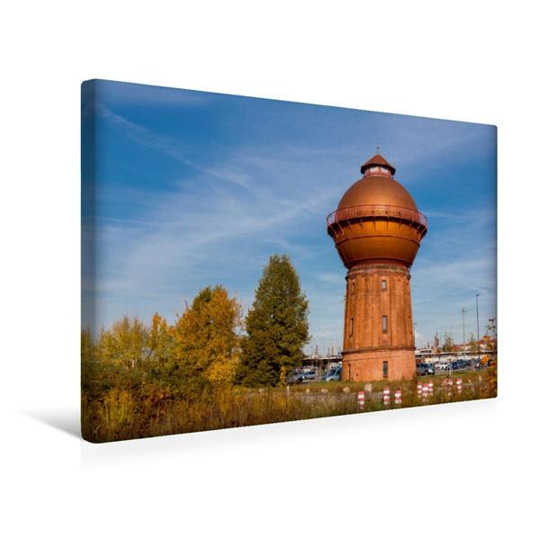 Premium Textil-Leinwand 45 cm x 30 cm quer, Wasserturm in Cottbus   Wandbild, Bild auf Keilrahmen, Fertigbild auf echter Leinwand, Leinwanddruck - Coverbild