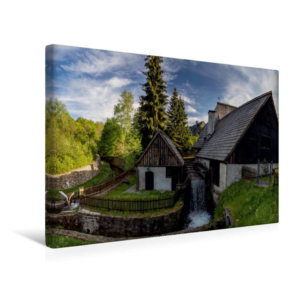 Premium Textil-Leinwand 45 cm x 30 cm quer, Frohnauer Hammer | Wandbild, Bild auf Keilrahmen, Fertigbild auf echter Leinwand, Leinwanddruck - Coverbild