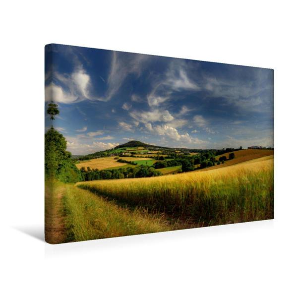 Premium Textil-Leinwand 45 cm x 30 cm quer, Blick auf den Pöhlberg   Wandbild, Bild auf Keilrahmen, Fertigbild auf echter Leinwand, Leinwanddruck - Coverbild