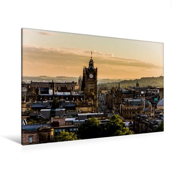 Premium Textil-Leinwand 120 cm x 80 cm quer, Sonnenuntergang | Wandbild, Bild auf Keilrahmen, Fertigbild auf echter Leinwand, Leinwanddruck - Coverbild