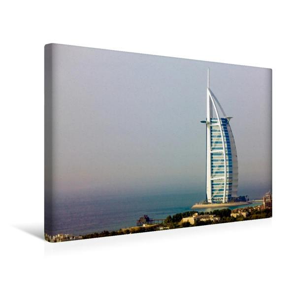 Premium Textil-Leinwand 45 cm x 30 cm quer, Burj al Arab | Wandbild, Bild auf Keilrahmen, Fertigbild auf echter Leinwand, Leinwanddruck - Coverbild