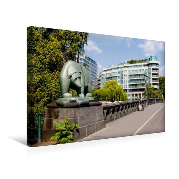 Premium Textil-Leinwand 45 cm x 30 cm quer, Bärenbrücke (Mitte) | Wandbild, Bild auf Keilrahmen, Fertigbild auf echter Leinwand, Leinwanddruck - Coverbild
