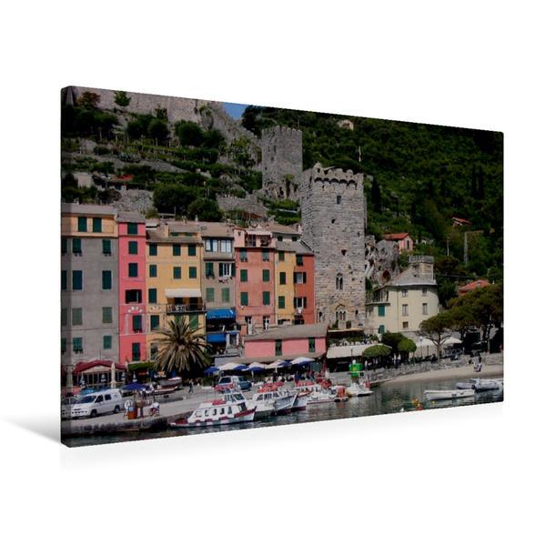 Premium Textil-Leinwand 75 cm x 50 cm quer, Porto Venere, Italien   Wandbild, Bild auf Keilrahmen, Fertigbild auf echter Leinwand, Leinwanddruck - Coverbild