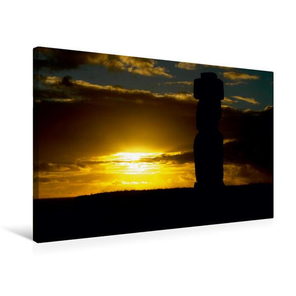 Premium Textil-Leinwand 75 cm x 50 cm quer, Ahu Tahai | Wandbild, Bild auf Keilrahmen, Fertigbild auf echter Leinwand, Leinwanddruck - Coverbild