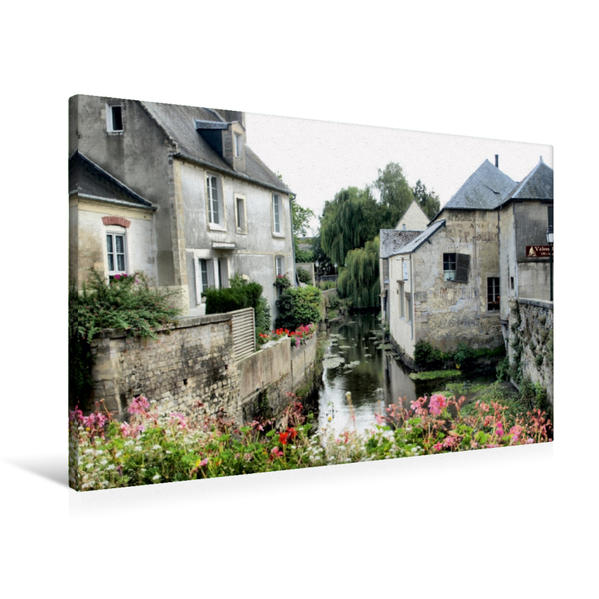 Premium Textil-Leinwand 90 cm x 60 cm quer, Bayeux   Wandbild, Bild auf Keilrahmen, Fertigbild auf echter Leinwand, Leinwanddruck - Coverbild