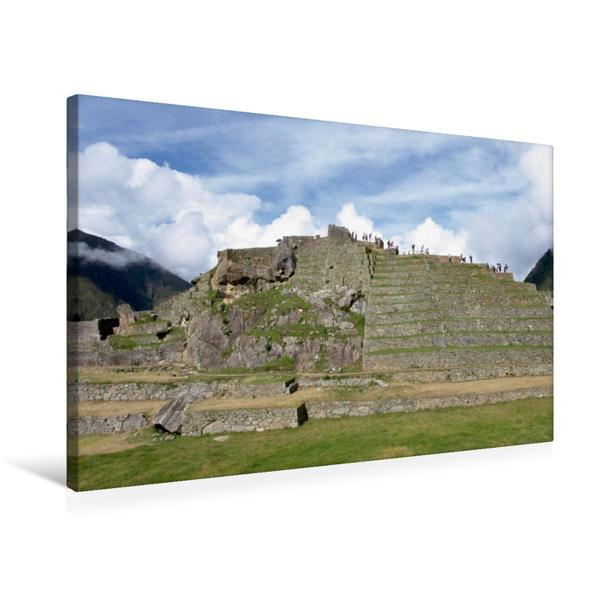 Premium Textil-Leinwand 75 cm x 50 cm quer, Ein Motiv aus dem Kalender Machu Picchu - Die Stadt in den Wolken   Wandbild, Bild auf Keilrahmen, Fertigbild auf echter Leinwand, Leinwanddruck - Coverbild