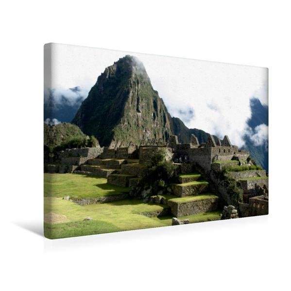 Premium Textil-Leinwand 45 cm x 30 cm quer, Ein Motiv aus dem Kalender Machu Picchu - Die Stadt in den Wolken | Wandbild, Bild auf Keilrahmen, Fertigbild auf echter Leinwand, Leinwanddruck - Coverbild