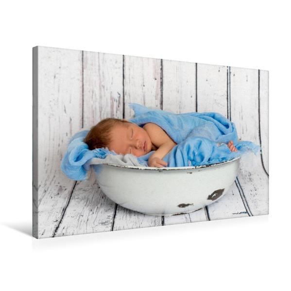 Premium Textil-Leinwand 75 cm x 50 cm quer, Baby Boy | Wandbild, Bild auf Keilrahmen, Fertigbild auf echter Leinwand, Leinwanddruck - Coverbild