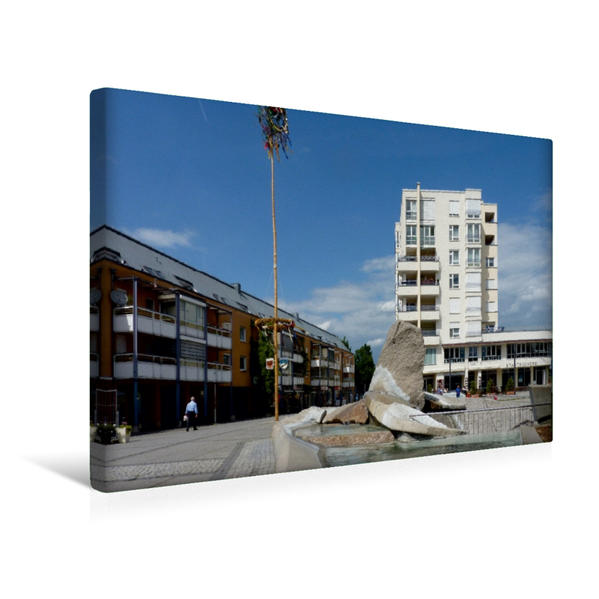 Premium Textil-Leinwand 45 cm x 30 cm quer, Wendlingen am Neckar | Wandbild, Bild auf Keilrahmen, Fertigbild auf echter Leinwand, Leinwanddruck - Coverbild