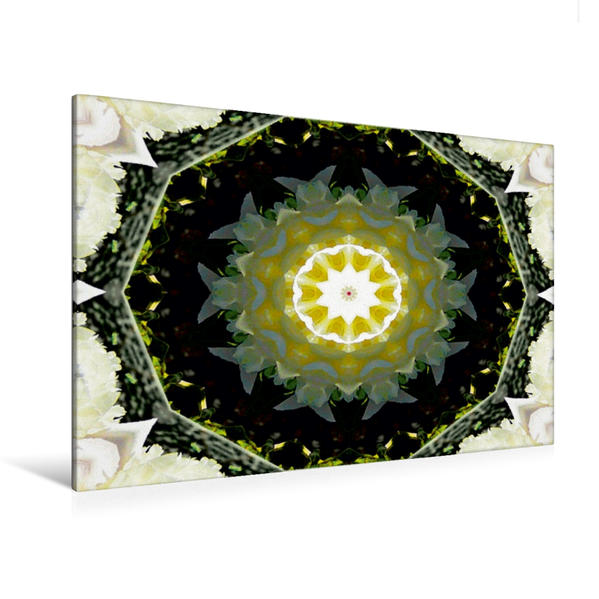 Premium Textil-Leinwand 120 cm x 80 cm quer, Mandala -  Meditation | Wandbild, Bild auf Keilrahmen, Fertigbild auf echter Leinwand, Leinwanddruck - Coverbild