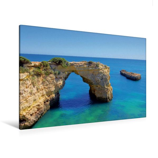 Premium Textil-Leinwand 120 cm x 80 cm quer, Algarve | Wandbild, Bild auf Keilrahmen, Fertigbild auf echter Leinwand, Leinwanddruck - Coverbild