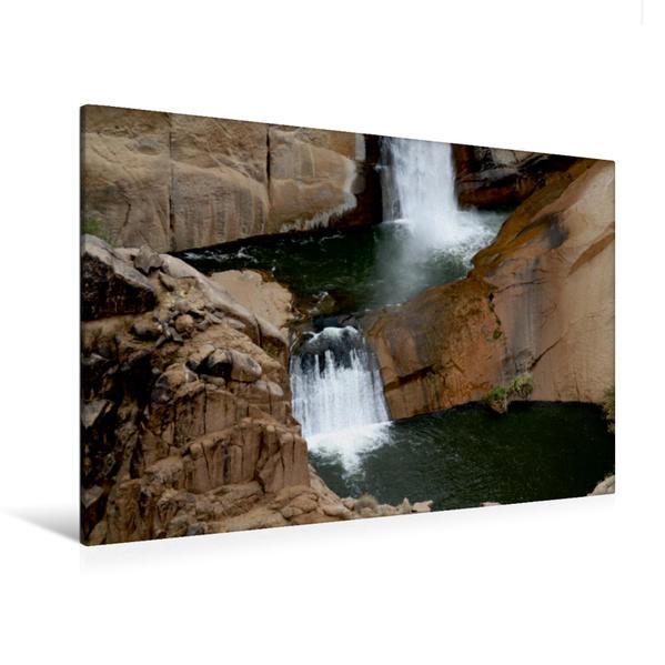 Premium Textil-Leinwand 120 cm x 80 cm quer, Orange River, Südafrika | Wandbild, Bild auf Keilrahmen, Fertigbild auf echter Leinwand, Leinwanddruck - Coverbild