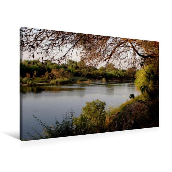 Premium Textil-Leinwand 90 cm x 60 cm quer, Zambesi River, Namibia | Wandbild, Bild auf Keilrahmen, Fertigbild auf echter Leinwand, Leinwanddruck - Coverbild