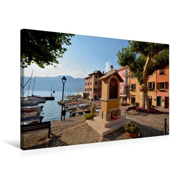 Premium Textil-Leinwand 75 cm x 50 cm quer, Hafen von Porto | Wandbild, Bild auf Keilrahmen, Fertigbild auf echter Leinwand, Leinwanddruck - Coverbild