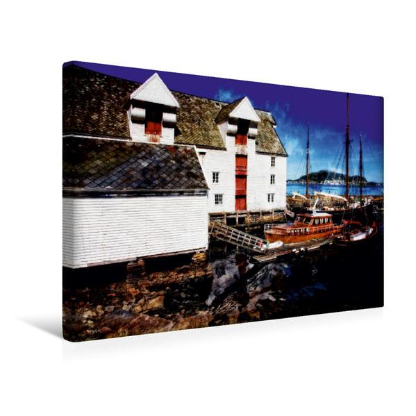 Premium Textil-Leinwand 45 cm x 30 cm quer, Ålesund - Molovegen | Wandbild, Bild auf Keilrahmen, Fertigbild auf echter Leinwand, Leinwanddruck - Coverbild