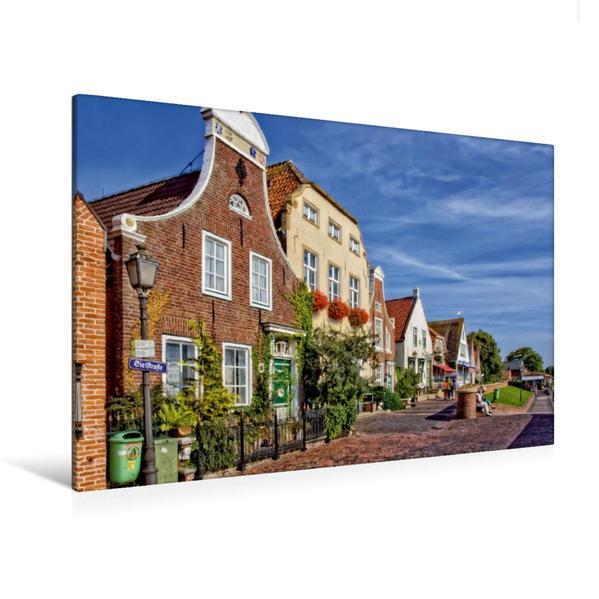 Premium Textil-Leinwand 120 cm x 80 cm quer, Giebelhäuser aus dem 17. und 18. Jahrhundert | Wandbild, Bild auf Keilrahmen, Fertigbild auf echter Leinwand, Leinwanddruck - Coverbild