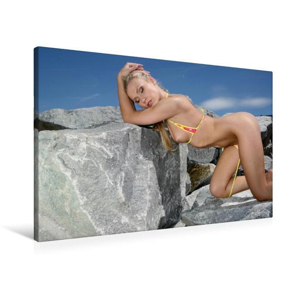 Premium Textil-Leinwand 90 cm x 60 cm quer, Sommer in Kanada | Wandbild, Bild auf Keilrahmen, Fertigbild auf echter Leinwand, Leinwanddruck - Coverbild