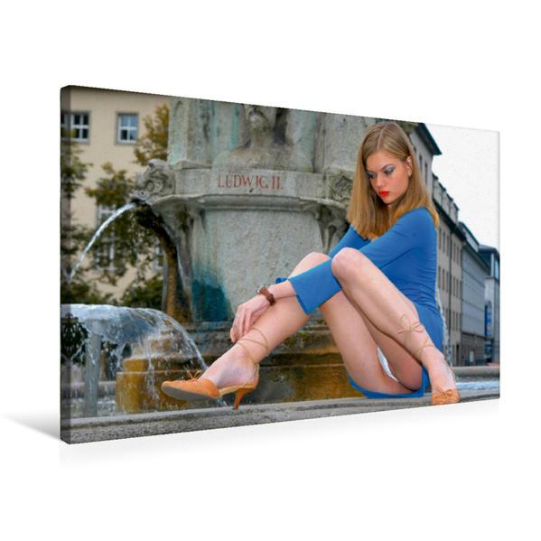 Premium Textil-Leinwand 75 cm x 50 cm quer, Sommer auf Ibiza | Wandbild, Bild auf Keilrahmen, Fertigbild auf echter Leinwand, Leinwanddruck - Coverbild