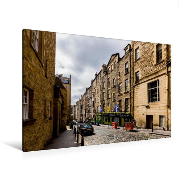 Premium Textil-Leinwand 120 cm x 80 cm quer, Seitengasse | Wandbild, Bild auf Keilrahmen, Fertigbild auf echter Leinwand, Leinwanddruck - Coverbild