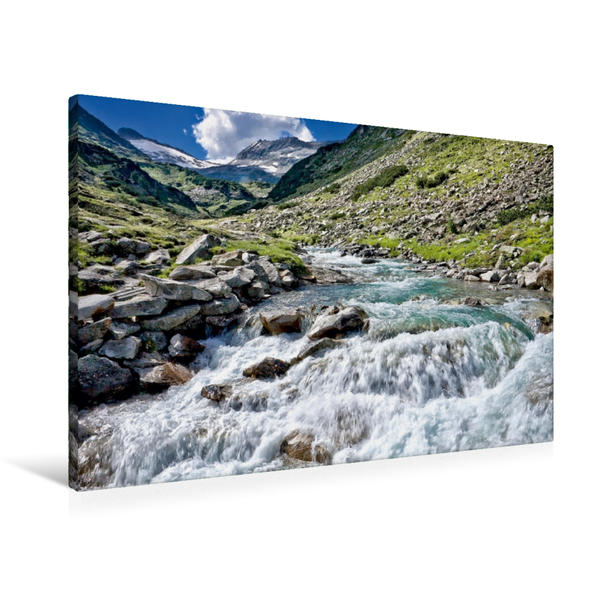Premium Textil-Leinwand 90 cm x 60 cm quer, Maltatal | Wandbild, Bild auf Keilrahmen, Fertigbild auf echter Leinwand, Leinwanddruck - Coverbild