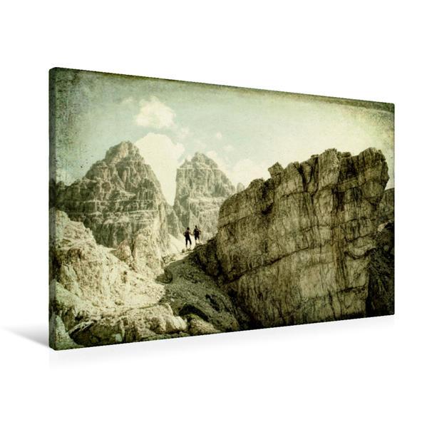 Premium Textil-Leinwand 90 cm x 60 cm quer, Bonacossa Steig | Wandbild, Bild auf Keilrahmen, Fertigbild auf echter Leinwand, Leinwanddruck - Coverbild