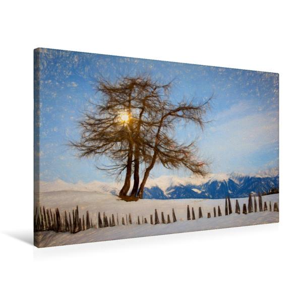 Premium Textil-Leinwand 75 cm x 50 cm quer, Rodenecker Alm   Wandbild, Bild auf Keilrahmen, Fertigbild auf echter Leinwand, Leinwanddruck - Coverbild