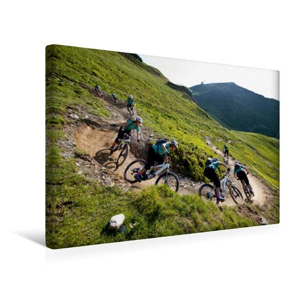 Premium Textil-Leinwand 45 cm x 30 cm quer, Hinterglemm/Austria | Wandbild, Bild auf Keilrahmen, Fertigbild auf echter Leinwand, Leinwanddruck - Coverbild