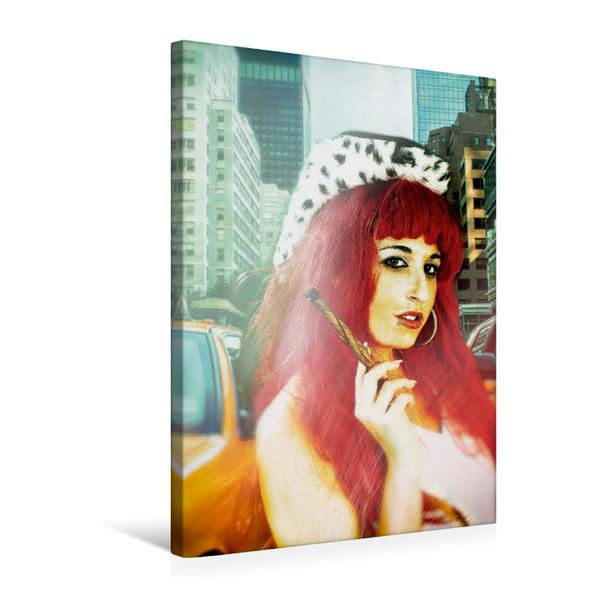 Premium Textil-Leinwand 50 cm x 75 cm hoch, Amerikanische Schönheit | Wandbild, Bild auf Keilrahmen, Fertigbild auf echter Leinwand, Leinwanddruck - Coverbild