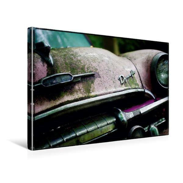 Premium Textil-Leinwand 45 cm x 30 cm quer, Ein Motiv aus dem Kalender Oldtimer - Vergessene Schönheiten | Wandbild, Bild auf Keilrahmen, Fertigbild auf echter Leinwand, Leinwanddruck - Coverbild