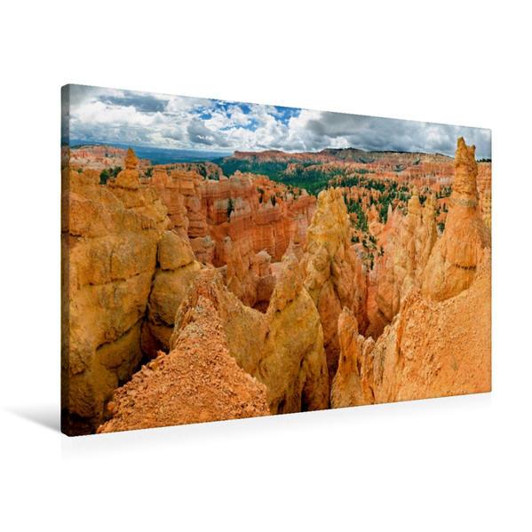 Premium Textil-Leinwand 90 cm x 60 cm quer, Amphitheater, Bryce Canyon, Utah, USA | Wandbild, Bild auf Keilrahmen, Fertigbild auf echter Leinwand, Leinwanddruck - Coverbild