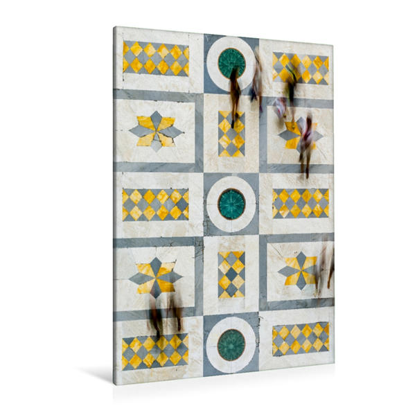Premium Textil-Leinwand 80 cm x 120 cm  hoch, Bodenmosaik Marmor   Wandbild, Bild auf Keilrahmen, Fertigbild auf echter Leinwand, Leinwanddruck - Coverbild