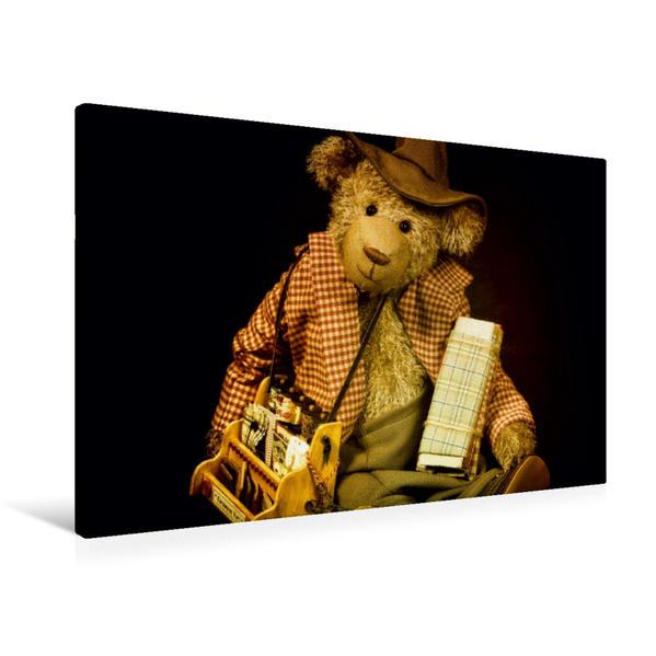 Premium Textil-Leinwand 90 cm x 60 cm quer, Kurzwaren Kurt | Wandbild, Bild auf Keilrahmen, Fertigbild auf echter Leinwand, Leinwanddruck - Coverbild