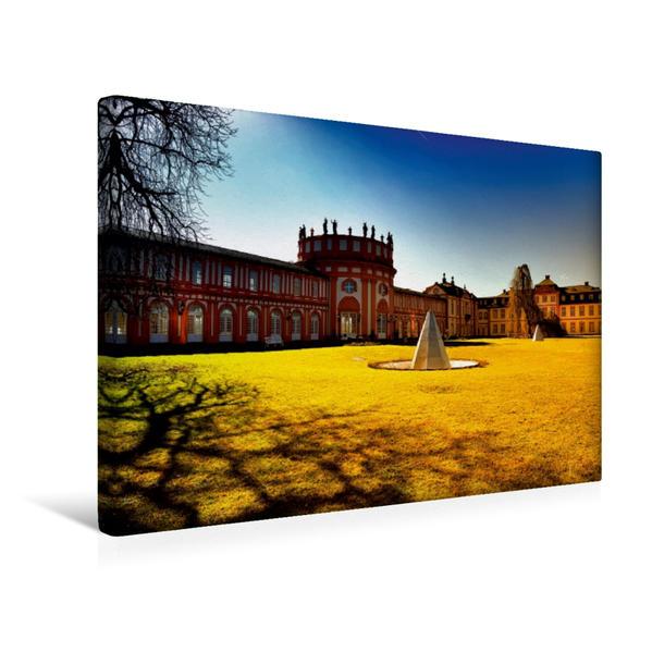 Premium Textil-Leinwand 45 cm x 30 cm quer, Schloss Biebrich | Wandbild, Bild auf Keilrahmen, Fertigbild auf echter Leinwand, Leinwanddruck - Coverbild