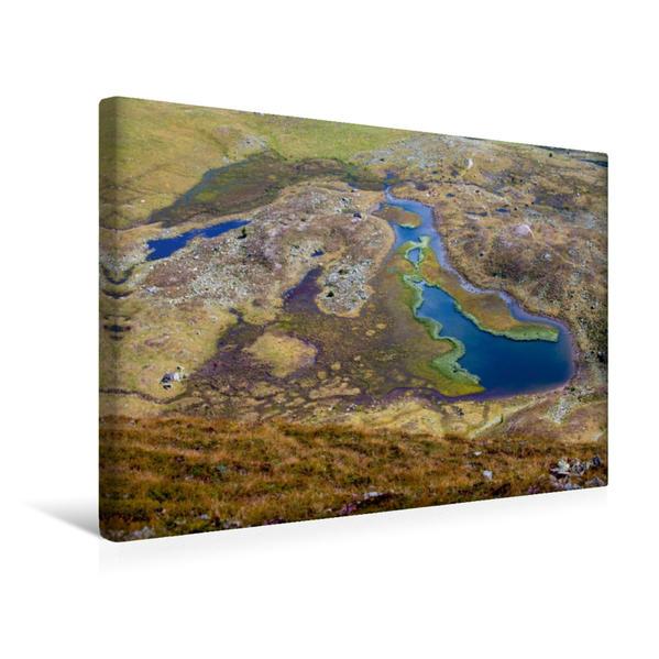 Premium Textil-Leinwand 45 cm x 30 cm quer, Rosaninsee - Schönfeld | Wandbild, Bild auf Keilrahmen, Fertigbild auf echter Leinwand, Leinwanddruck - Coverbild