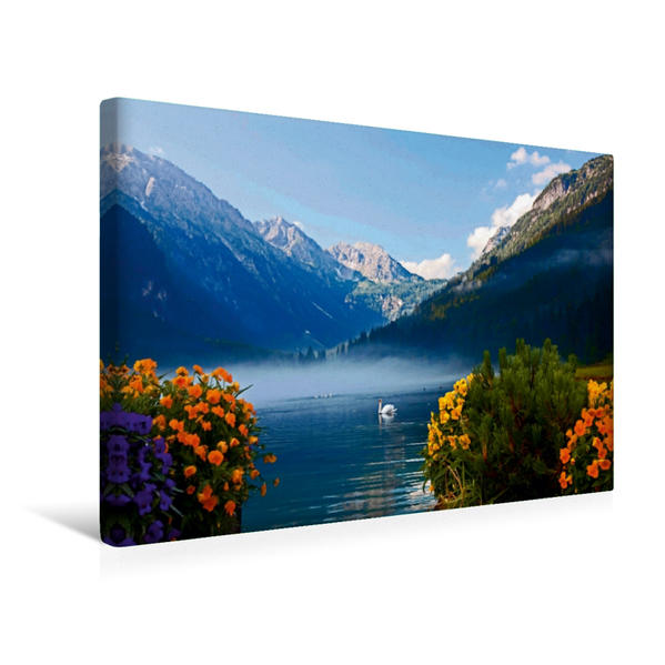 Premium Textil-Leinwand 45 cm x 30 cm quer, Jägersee - Kleinarl /Wagrain | Wandbild, Bild auf Keilrahmen, Fertigbild auf echter Leinwand, Leinwanddruck - Coverbild