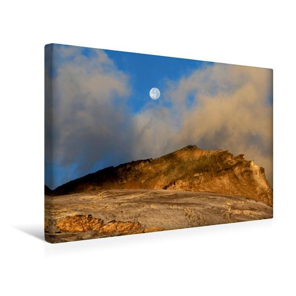 Premium Textil-Leinwand 45 cm x 30 cm quer, Ein Motiv aus dem Kalender Traumhafte Mondreise | Wandbild, Bild auf Keilrahmen, Fertigbild auf echter Leinwand, Leinwanddruck - Coverbild