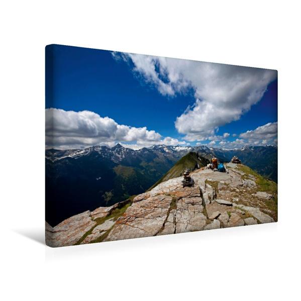 Premium Textil-Leinwand 45 cm x 30 cm quer, Blick ins Murtal mit Gr. Hafner   Wandbild, Bild auf Keilrahmen, Fertigbild auf echter Leinwand, Leinwanddruck - Coverbild