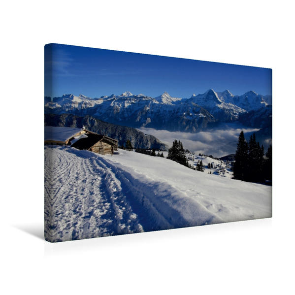 Premium Textil-Leinwand 45 cm x 30 cm quer, Niederhorn, Beatenberg, Schweiz | Wandbild, Bild auf Keilrahmen, Fertigbild auf echter Leinwand, Leinwanddruck - Coverbild