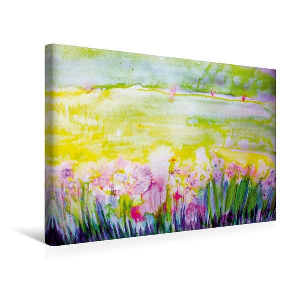 Premium Textil-Leinwand 45 cm x 30 cm quer, Frühlingswiese | Wandbild, Bild auf Keilrahmen, Fertigbild auf echter Leinwand, Leinwanddruck - Coverbild