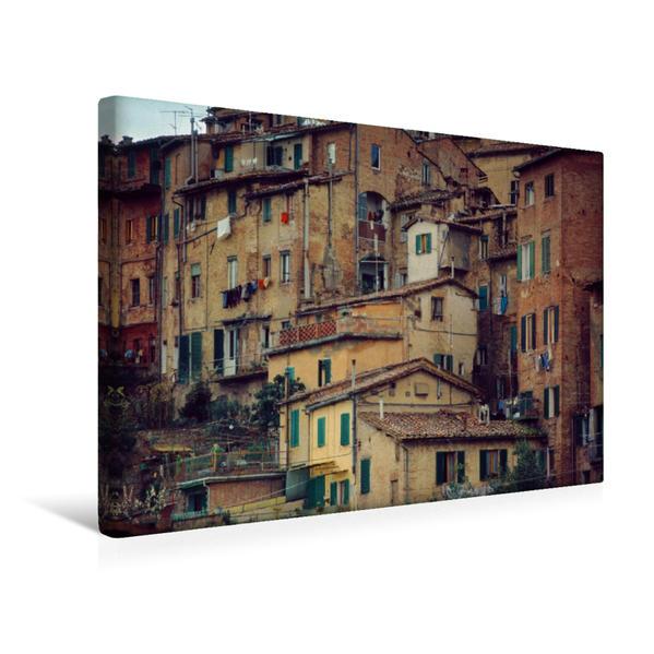 Premium Textil-Leinwand 45 cm x 30 cm quer, Toskana Häuser | Wandbild, Bild auf Keilrahmen, Fertigbild auf echter Leinwand, Leinwanddruck - Coverbild