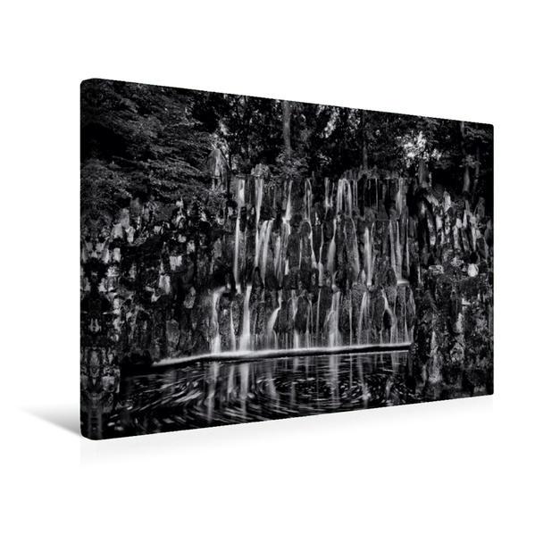 Premium Textil-Leinwand 45 cm x 30 cm quer, Wasserfall im Palaisgarten | Wandbild, Bild auf Keilrahmen, Fertigbild auf echter Leinwand, Leinwanddruck - Coverbild